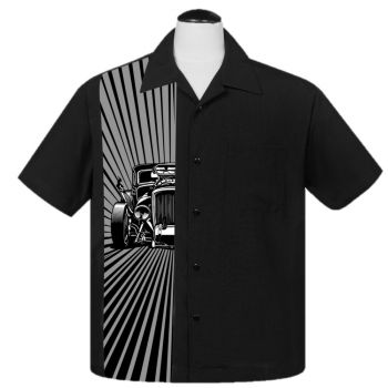 KAULUSPAITA - Hot Rod Burst in Black - STEADY CLOTHING