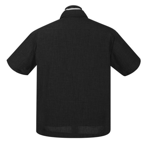 KAULUSPAITA -PopCheck Single Panel Button Up in Black/Sage - STEADY CLOTHING