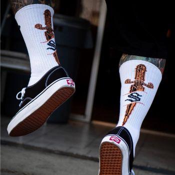 SUKAT - Dagger Knit Socks White - Sullen Clothing