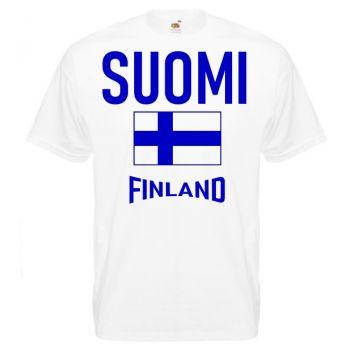 T-PAITA  Suomi/Lippu/Finland valkoinen