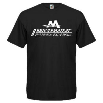 T-paita SEIVÄSMATKAT Otat pienet ja olet jo perillä.