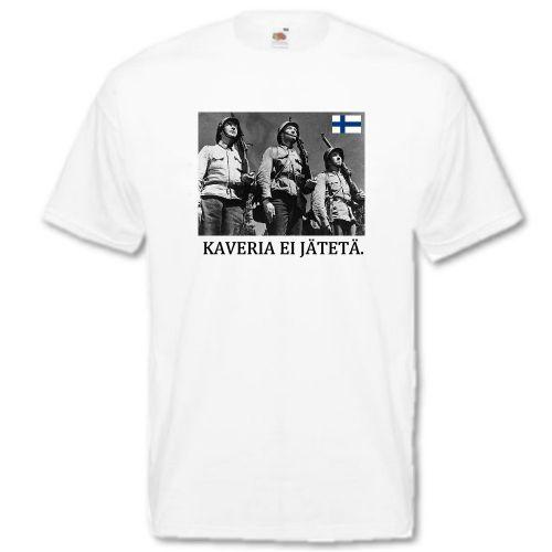 T-PAITA - KAVERIA EI JÄTETÄ TUNTEMATON SOTILAS valkoinen