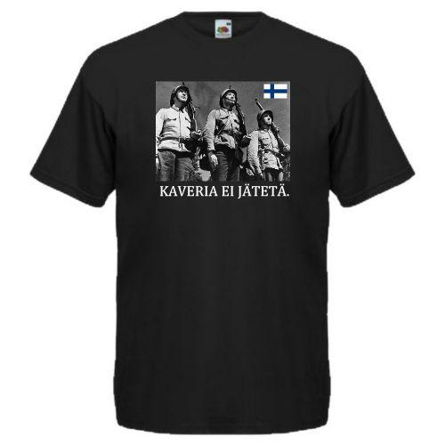 T-PAITA - KAVERIA EI JÄTETÄ TUNTEMATON SOTILAS musta
