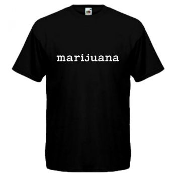 PARODIA T-PAITA marijuana musta
