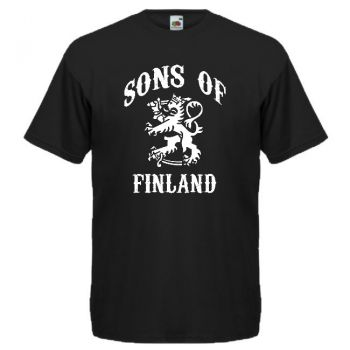 T-PAITA SONS OF FINLAND musta (83570)