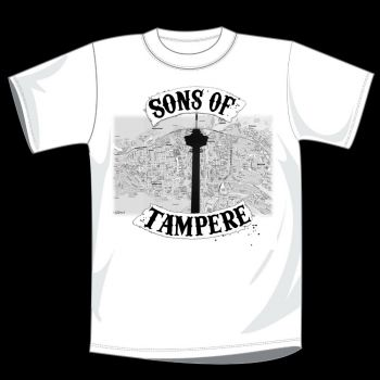 T-PAITA VALKOINEN - SONS OF TAMPERE kartta