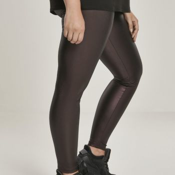 LEGGINSIT SUURET KOOT - Faux Leather High Waist REDWINE - URBAN CLASSICS