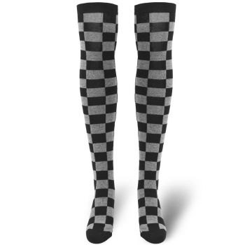 SUKAT -  Ladies Checkerboard Overknee