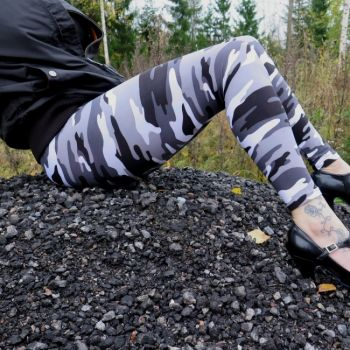 LEGGINSIT - SNOW CAMO SUURET KOOT- URBAN CLASSICS