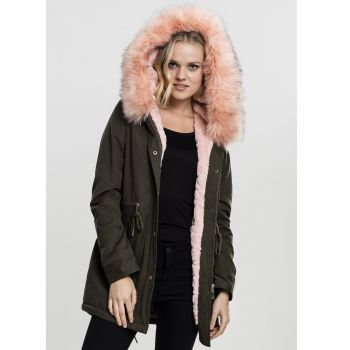 NAISTEN PARKATAKKI - Peached Teddy Lined Parka