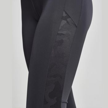 LEGGINSIT - Jacquard Camo Striped - URBAN CLASSICS