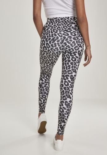 LEGGINSIT - Ladies AOP High Waist Leggings - URBAN CLASSICS