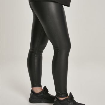 LEGGINSIT SUURET KOOT - Faux Leather High Waist - URBAN CLASSICS