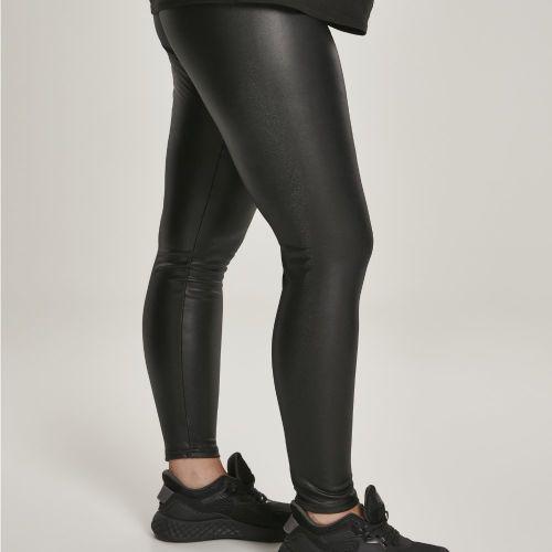 LEGGINSIT SUURET KOOT - Faux Leather High Waist - URBAN CLASSICS