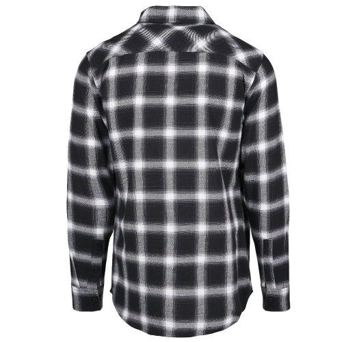 KAULUSPAITA - Oversized Checked Shirt blk/wht - URBAN CLASSICS