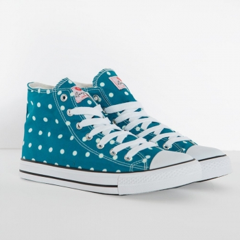 TENNARIT - TEAL Polka Dot Sneakers