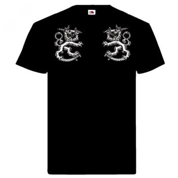 T-PAITA - Kaksi Leijonaa musta (80320)