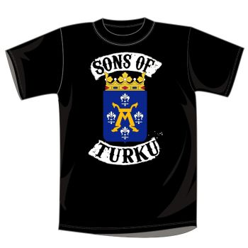 T-PAITA MUSTA - SONS OF TURKU VAAKUNA