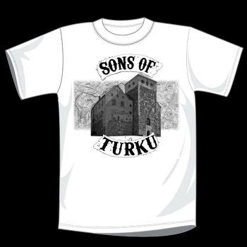 T-PAITA VALKOINEN - SONS OF TURKU kartta