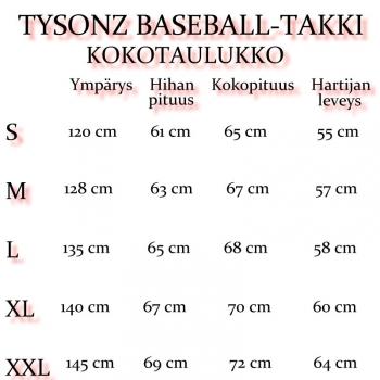 TYSONZ BASEBALL TAKKI: nahkahihoilla Mu/Va