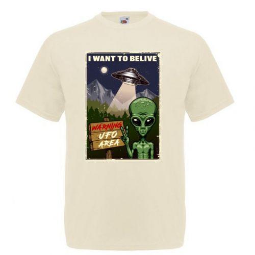 T-PAITA LUONNONVALKOINEN- UFO