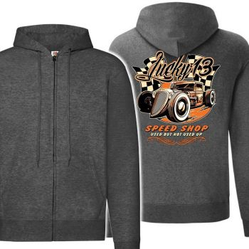 VETOKETJUHUPPARI Dark Heather Grey - LUCKY 13 SPEED SHOP (783)