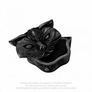 RASIA - SACRED CAT TRINKET BOX (BLACK) - ALCHEMY