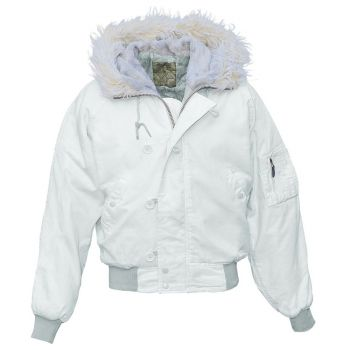 KARVAHUPULLINEN PILOTTI - Flight Jacket N2B WHITE - Mc Allister