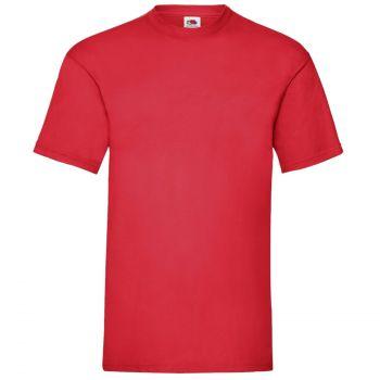 Vetoketjuhuppari + t-paita - punainen