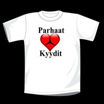 T-PAITA VALKOINEN - PARHAAT KYYDIT